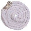 White Cotton Lead Ropes With Bull Snaps